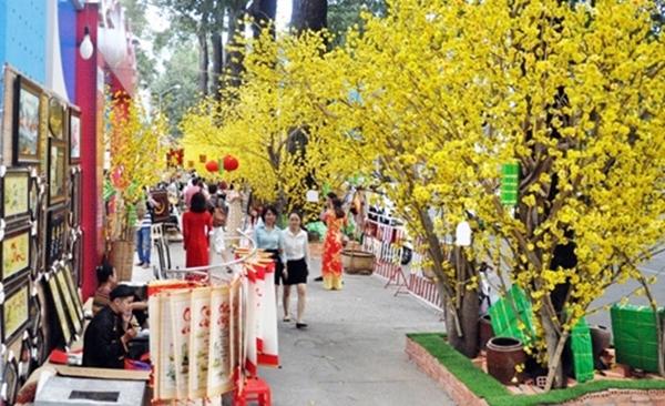 Rực rỡ sắc xuân trên phố Sài Gòn