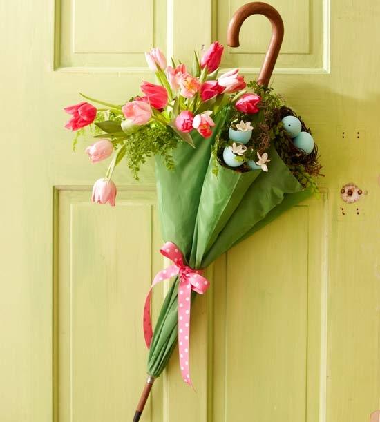 Vật dụng trang trí xinh xắn trước cửa nhà (Ảnh: Internet)