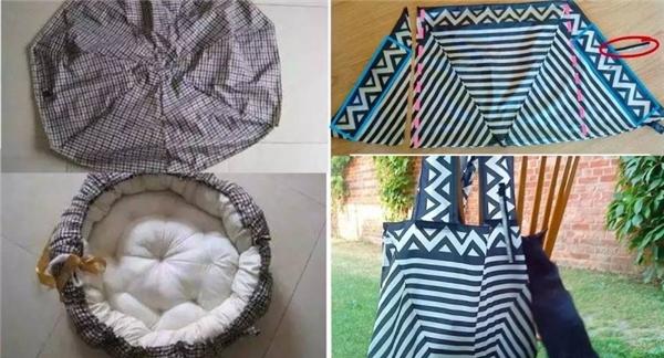Gối nệm và túi xác được làm từ dù. (Ảnh: Internet)