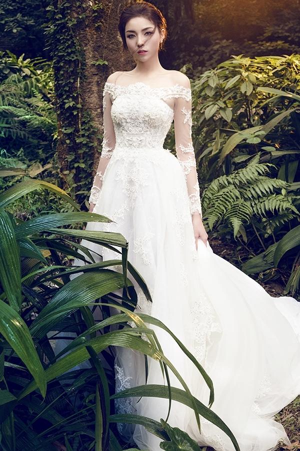 Hình ảnh gần đây nhất của Kỳ Duyên trong những chiếc váy cưới trắng lộng lẫy. - Tin sao Viet - Tin tuc sao Viet - Scandal sao Viet - Tin tuc cua Sao - Tin cua Sao