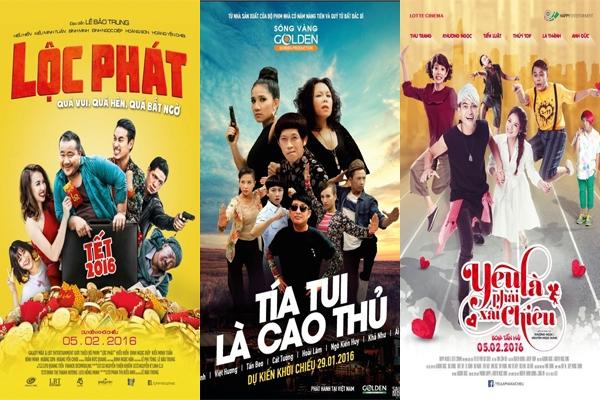 Có nhiều phim hài Tết cho các bạn lựa chọn. (Ảnh: Internet)