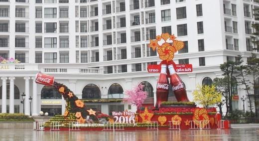 Khu chụp hình Megafie nổi bật trong lòng khu đô thị Royal City, Hà Nội.