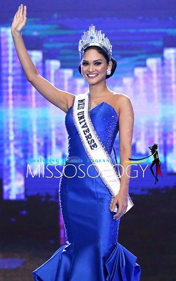 Hoa hậu Hoàn vũ mặc lại chiếc váy xanh ở chung kết. Ảnh: Missosology