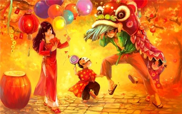 Múa Lân ngày tết từ lâu đã trở thành một nét văn hóa tốt đẹp của người Việt Nam. (Ảnh: Internet)