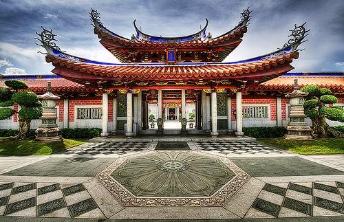 Chùa Liên Sơn Song Lâm là một ngôi chùa lớn và nổi tiếng ở Toa Payoh.(Ảnh: Internet)