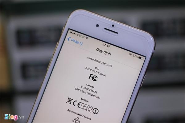 Tuy nhiên, đi sâu và phần pháp lý thì sẽ thấy chiếc iPhone 6S này sử dụng phần cứng của iPhone 5S. Người dùng cần kết nối điện thoại với máy tính sau đó vào iTunes để phân biệt.