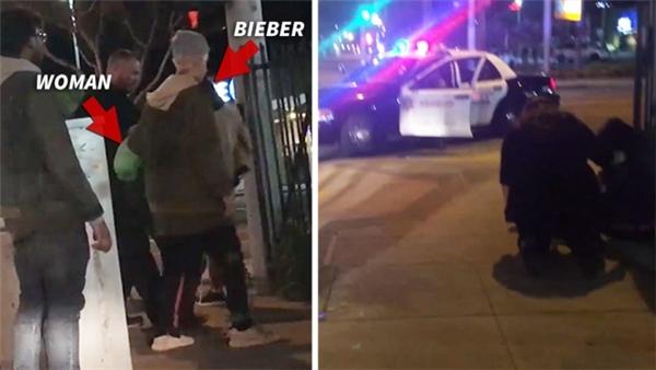 Justin Bieber đã dừng xe khi nghe tiếng kêu cứu, anh chạy đến hỏi han, an ủi và tỏ ý giúp đỡ người phụ nữ gặp tai nạn ấy. (Ảnh: Internet)