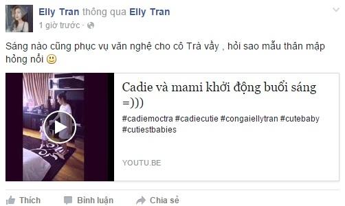 Hai mẹ con Elly Trần nhún nhảy khiến fan rụng rời - Tin sao Viet - Tin tuc sao Viet - Scandal sao Viet - Tin tuc cua Sao - Tin cua Sao