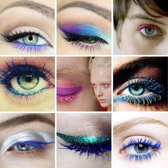 Mascara màu sắc- xu hướng làm đẹp thú vị trong những ngày đầu năm.