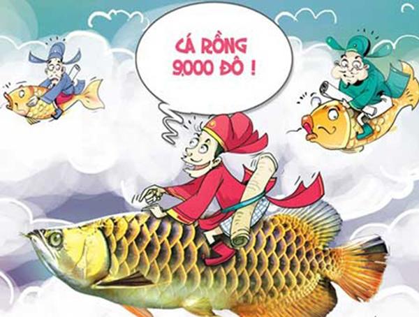 Năm nay làm ăn phát đạt, cưỡi cá rồng cho oai. (Ảnh: Internet)