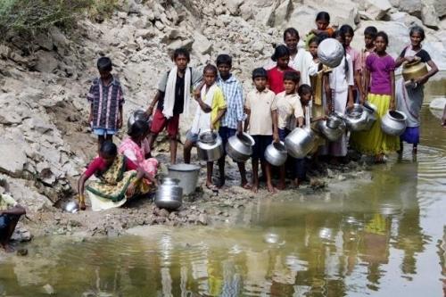Cuộc sống của người dân Ấn Độ ở huyện Nalgonda còn gặp nhiều khó khăn.