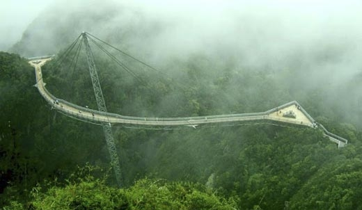Cầu SkyBridge bắt qua thung lũng Krasnaya Polyana, miền Tây Nam nước Nga đã được ghi vào sách kỉ lục Guinness thế giới là cây cầu treo dài nhất với chiều dài 700m.(Ảnh: Internet)   Cây cầu có sức chứa 30.000 người trong cùng một thời điểm. Đứng trên cây cầu này người ta có thể ngắm toàn cảnh thành phố Sochi.(Ảnh: Internet)