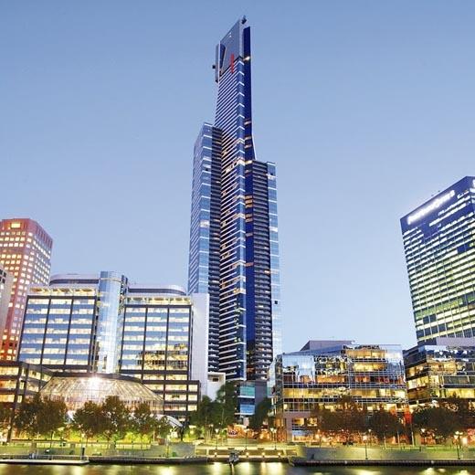 Tháp Eureka là một trong những tòa nhà chọc trời dùng làm khu căn hộ với chiều cao 297m nằm ở thành phố Melbourne, nước Úc. (Ảnh: Internet)