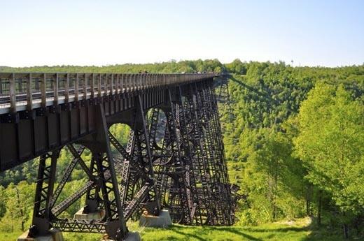 Cầu Kinzua dưới một góc nhìn khác vào mùa xuân. (Ảnh: Internet)