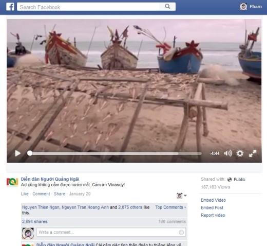 Nhiều trang và Fanpage trên mạng xã hội Facebook đã đồng loạt chia sẻ lại bộ phim này.