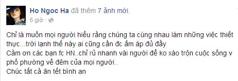 Cô còn cám ơn FC Hà Nội vì đã đồng hành cùng mình trong suốt chương trình từ thiện. - Tin sao Viet - Tin tuc sao Viet - Scandal sao Viet - Tin tuc cua Sao - Tin cua Sao