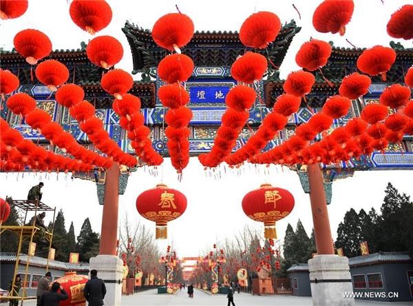 Lễ hội ở công viên Di Tân là một trong số những lễ hội đền nổi tiếng nhất Bắc Kinh.(Ảnh: Internet)