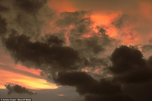 Những đám mây ngũ sắc chính là dấu hiệu báo động cơn bão sắp ập đến. (Ảnh: Internet)