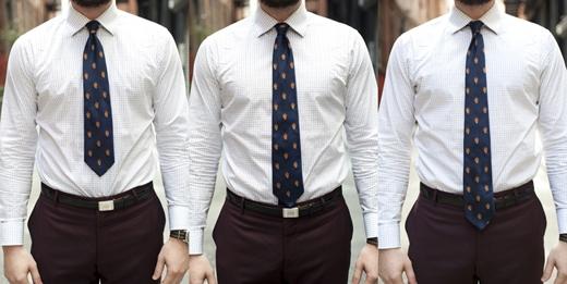 """Cà vạt có độ dài không phù hợp: chiều dài của cà vạt nên kết thúc tại khóa thắt lưng, nếu ngắn quá hoặc dài quá thì trông sẽ rất """"lạ"""". (Ảnh: Internet)"""