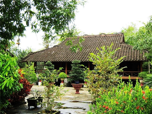 Ngôi nhà gỗ của gia đìnhBác Tôn. (Ảnh: Internet)