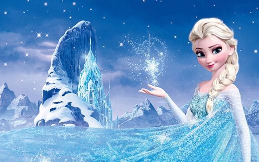 Và nàng Elsa xinh đẹp trong Frozen.