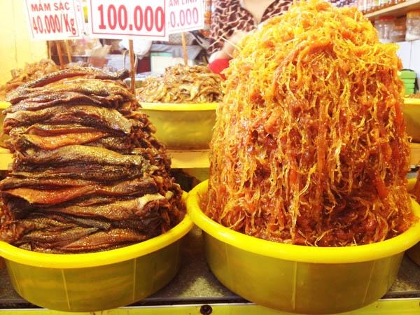 Một vài loại mắm ở Châu Đốc. (Ảnh: Internet)