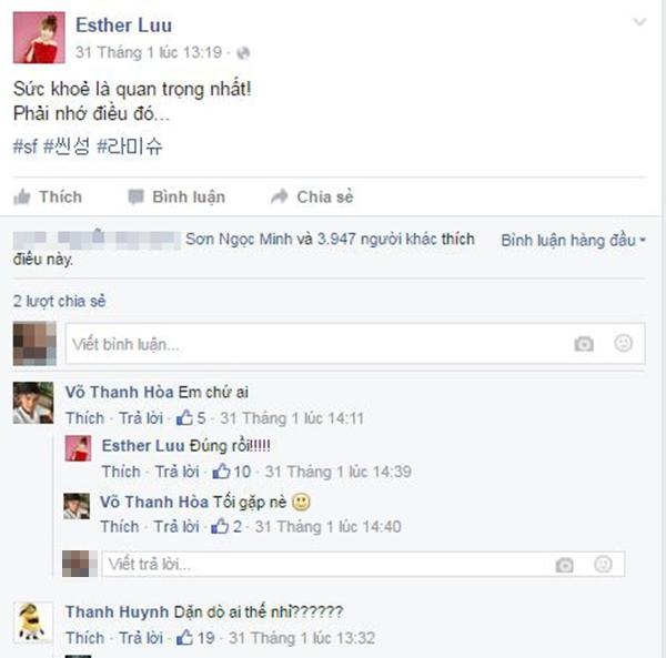 Ngày 31/01/2016, Hari đăng tải lời nhắn nhủ về sức khỏe đến một ai đó. Và ngay lập tức, Trấn Thành lại xuất hiện với một câu hỏi yêu... - Tin sao Viet - Tin tuc sao Viet - Scandal sao Viet - Tin tuc cua Sao - Tin cua Sao
