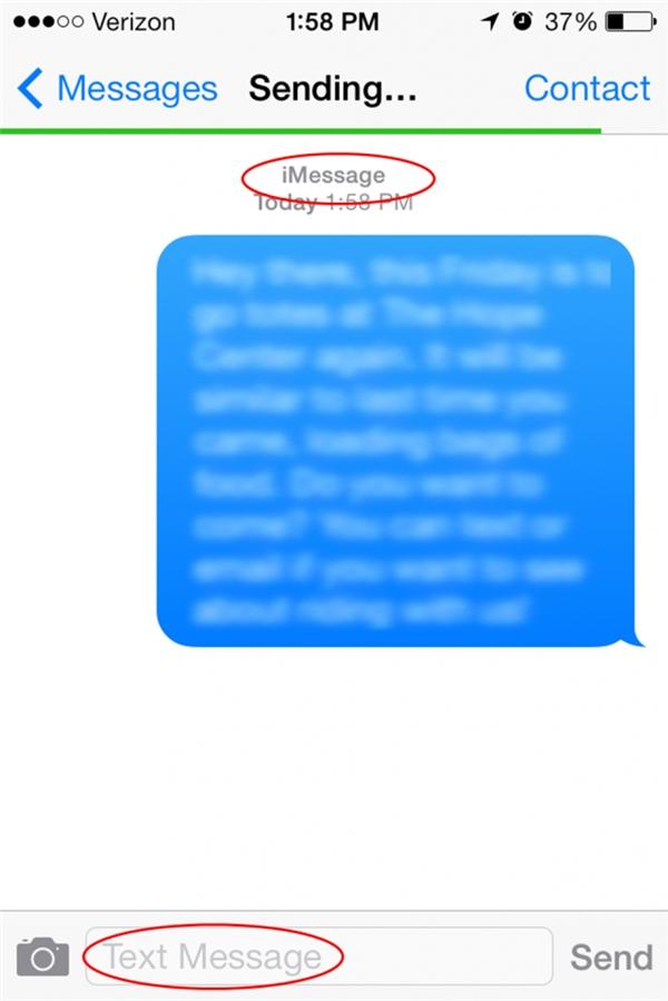 Bạn sẽ mất khoảng vài giây để tin nhắn hoàn toàn được gửi đi. (Ảnh: Internet)