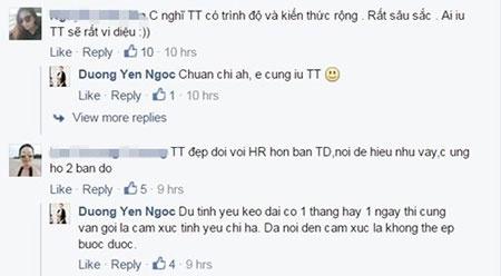 Các bình luận đều mặc định nhân vật mà Dương Yến Ngọc nói đến là Trấn Thành - Tin sao Viet - Tin tuc sao Viet - Scandal sao Viet - Tin tuc cua Sao - Tin cua Sao