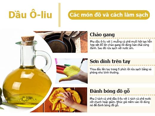 Ngoài công dụng dưỡng da và tóc thì dầu ô-liu cũng là một chất tẩy rửa và đánh bóng đồ gỗ.(Ảnh: PressureWasherToday)
