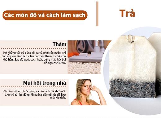Túi trà có công dụng làm đẹp và khử mùi rất hiệu quả. (Ảnh: PressureWasherToday)