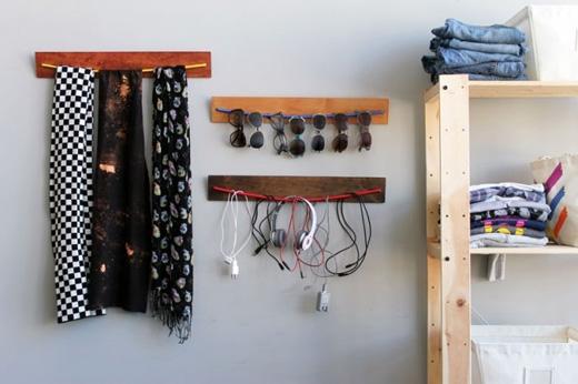 Bạn đã bao giờ nghĩ đến việc dùng dây làm móc treo chưa? (Ảnh: Internet)