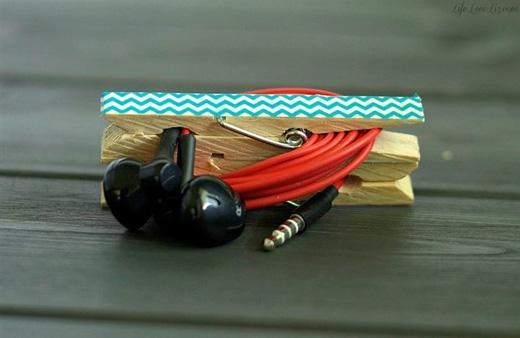 Để dây đeo tai nghe không bị rối. (Ảnh: Internet)