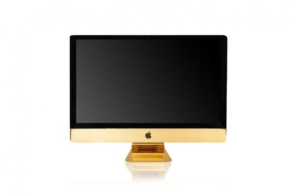 Chiếc iMac mạ vàng. (Ảnh:Luxurylaunches)
