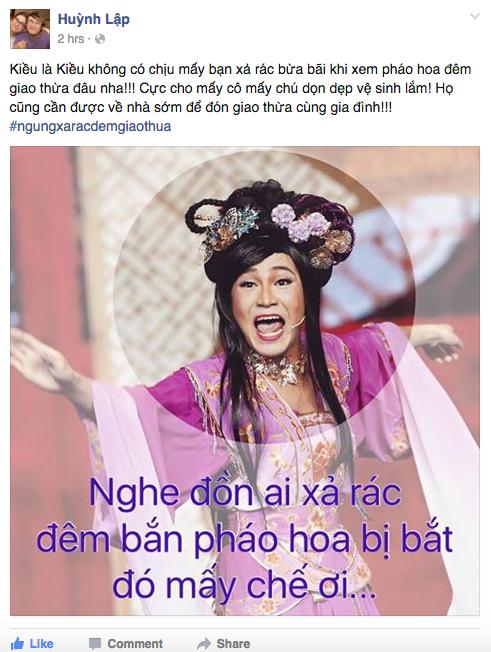 Xúc động trước lí do Huỳnh Lập kêu gọi  ngưng xả rác đêm giao thừa - Tin sao Viet - Tin tuc sao Viet - Scandal sao Viet - Tin tuc cua Sao - Tin cua Sao