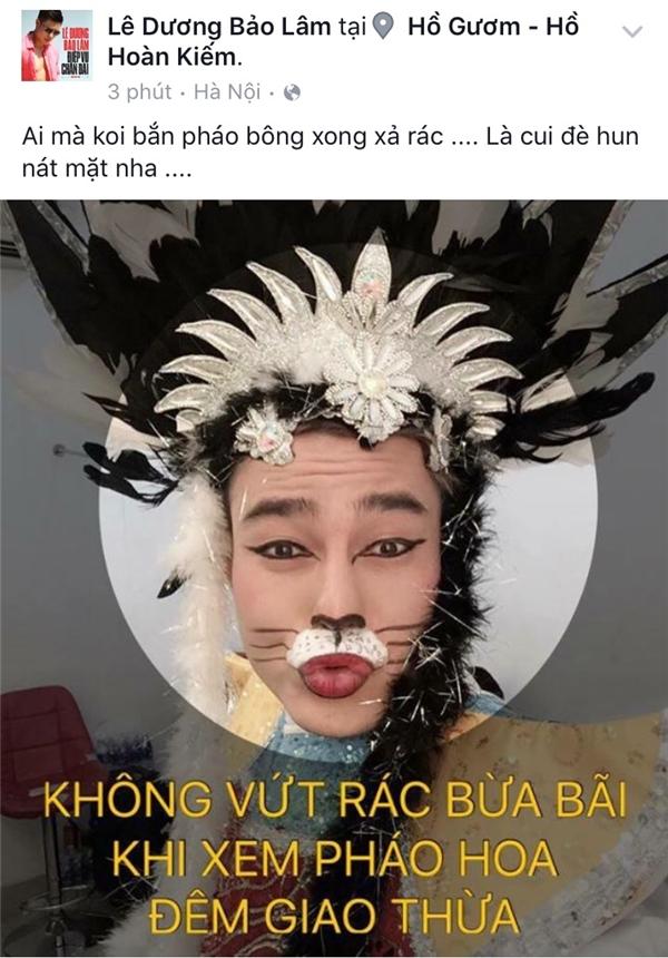 """Lê Dương Bảo Lâm hưởng ứng chiến dịch với lời """"dọa dẫm"""" đáng yêu. - Tin sao Viet - Tin tuc sao Viet - Scandal sao Viet - Tin tuc cua Sao - Tin cua Sao"""