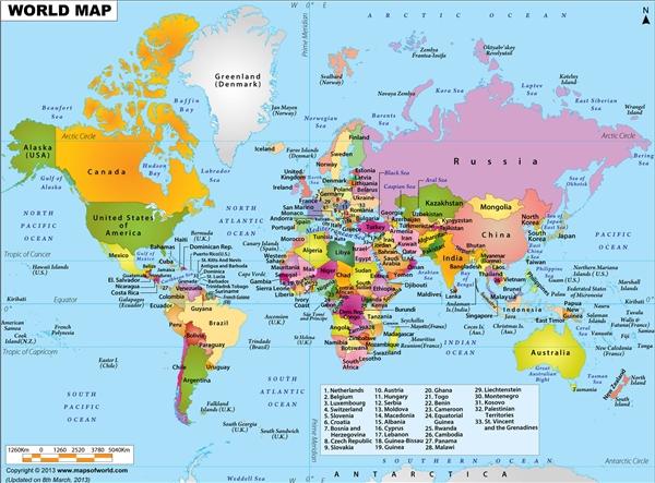 Tên của các quốc gia khác nhau trong những ngôn ngữ khác nhau. (Ảnh: Internet)