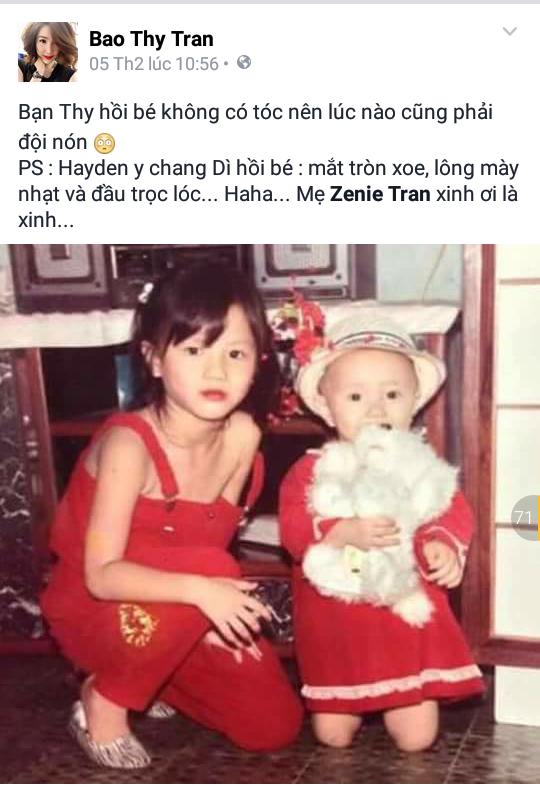 Bảo Thy khoe ảnh lúc bé để chứng minh rằng… cháu của cô nàng rất giống bản thân cô lúc bấy giờ. - Tin sao Viet - Tin tuc sao Viet - Scandal sao Viet - Tin tuc cua Sao - Tin cua Sao