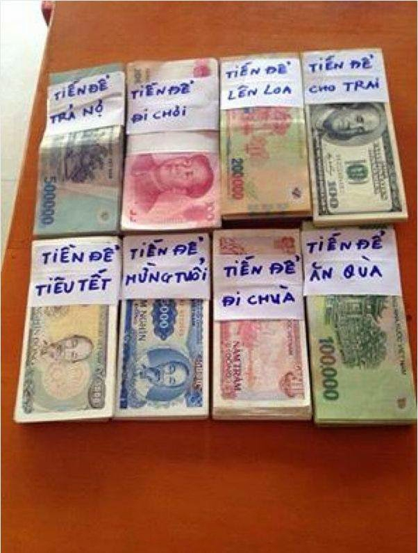 Biết bao khoản tiền phải lo. (Ảnh: Internet)