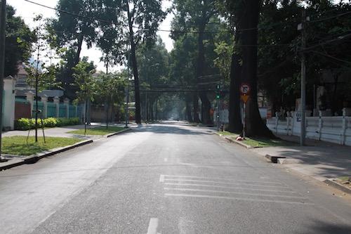 Tại TPHCM, những tuyến đường, điểm giao thông thường ngày vốn đông đúc, kẹt xe thì trong sáng đầu tiên của năm Bính Thân thật thênh thang, rộng rãi. Ảnh: Internet