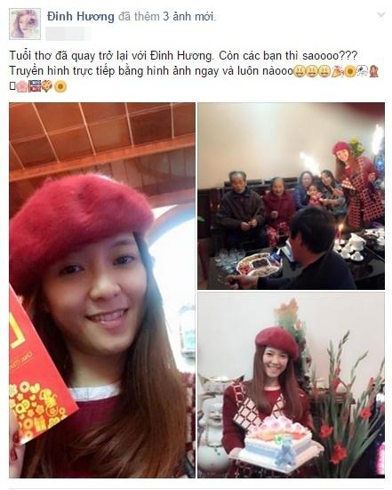 Đinh Hương đã về Quảng Bình để đón Tết bên gia đình. - Tin sao Viet - Tin tuc sao Viet - Scandal sao Viet - Tin tuc cua Sao - Tin cua Sao