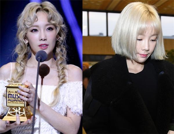 """Cách trang điểm và thay đổi kiểu tóc của Taeyeon cũng trở thành chủ đề """"nóng"""" trên các diễn đàn cư dân mạng Hàn."""