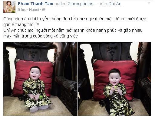 Con trai Tâm Tít diện áo dài truyền thống vô cùng đáng yêu trong ngày đầu năm mới. - Tin sao Viet - Tin tuc sao Viet - Scandal sao Viet - Tin tuc cua Sao - Tin cua Sao