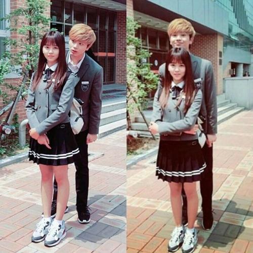 Ngoài ra, cô nàng cũng trông vô cùng nhỏ nhắn bên cạnh Sungjae (BTOB).