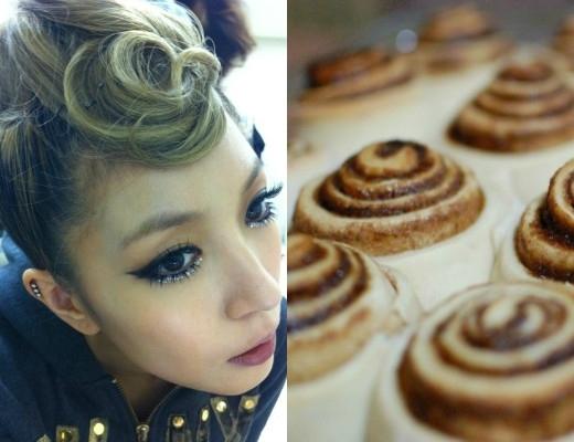Chắc hẳn các fan sẽ rất đói bụng khi nhìn vào kiểu tóc y chang những chiếc bánh Cinnabon của BoA.