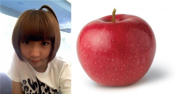 Minzy (2NE1) khi mới gia nhập làng giải trí trông vô cùng đáng yêu với quả đầu táo.