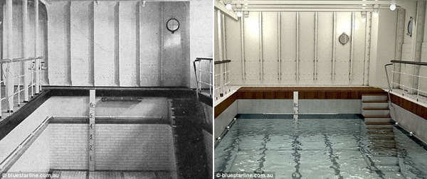 Hồ bơi với một số chỉnh sửa phù hợp hơn với thời đại.