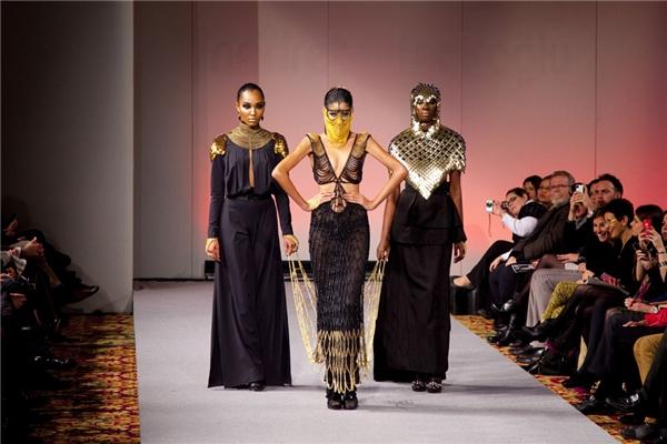 Hoàng Thùy từng giữ vị trí vedette trong một show diễn tại New York CoutureFashion Week 2012. - Tin sao Viet - Tin tuc sao Viet - Scandal sao Viet - Tin tuc cua Sao - Tin cua Sao