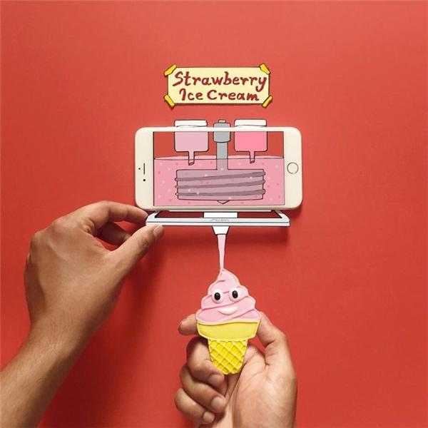 Nếu được, hãy bê chiếc máy làm kem này về nhé!