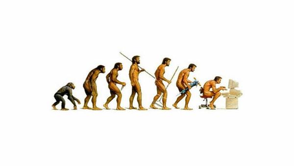 Sự tiến hóa sẽ thay đổi khi có máy tính? (Ảnh: Bored Panda)